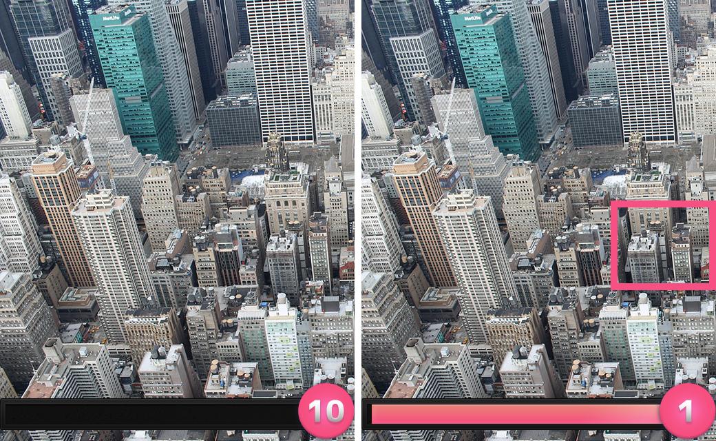 正解は「画面右の建物の高さが低くなっていた。」でした。